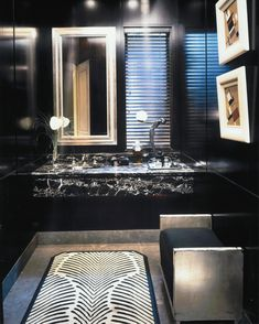 Powder room in Beverly hills by Anne Hauck in Deco & Streamline Architecture in L.A.