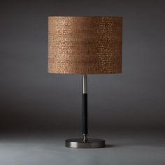 Metallic Cork Table Lamp.