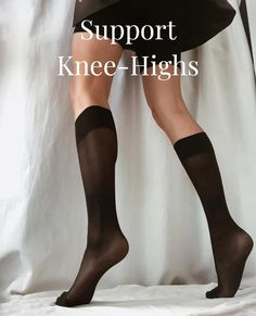 Image @jacqueline.isabelle Want extra support, but don't want to wear tights? Then Irma is right for you. Here's why you'll love her: - 60 denier support knee-highs - Semi opaque - Soft and broad cuff - Light support throughout legs - Toe reinforcements - 100% emission free knee-highs - Knitted from recycled yarn #swedishstockings #capsulewardrobeaustraliawork #supportkneehighs #blackkneehighsocks #ethicalfashionbrandsaustralia Black Knee High Socks, Knee High Stockings, Scandi Chic, Corporate Style, Ethical Fashion Brands, Recycled Yarn, Knee Highs, High Knees, Slow Fashion