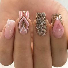 uñas sun tattoo designs - Tattoos And Body Art Elegant Nail Designs, Best Nail Art Designs, Acrylic Nail Designs, Trendy Nail Art, New Nail Art, Best Acrylic Nails, Instagram Nails, Nail Decorations, Gorgeous Nails