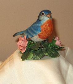 Lenox EASTERN BLUEBIRD Garden Bird Sculpture Collection Hand Painted Fine Porcelain Figurine 1986.