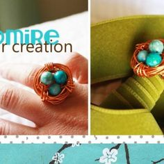 How to Make a Bird's Nest Ring {diy jewelry}