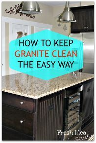 the secret to easy clean granite you won t find under the kitchen sink, cleaning tips, kitchen design, The secret to keeping your granite clean is as easy as 1 2 3