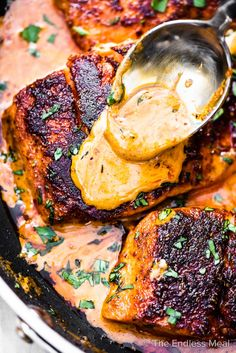 PIN TO SAVE FOR LATER! Cajun salmon is a quick and easy dinner recipe that is bursting with flavor. Cajun seasoned salmon is quickly seared until blacked, then a little cream (or dairy-free cashew cream) is added to the pan to make a creamy cajun sauce. It's delicious! #theendlessmeal #cajunsalmon #cajun #salmon #salmonrecipes #cajunrecipes #fishrecipes #fish #cajunfish #easyrecipes #dinnerrecipes #keto #ketorecipes #lowcarb #lowcarbrecipes #paleorecipes #paleo #whole30 #glutenfree… Louisiana Recipes, Cajun Recipes, Fish Recipes, Seafood Recipes, Recipies, Haitian Recipes, Cajun Food, Whole30 Recipes, Donut Recipes