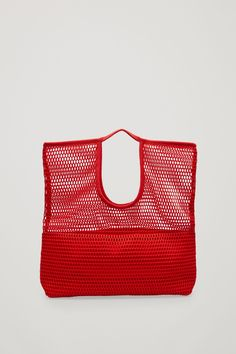 COS image 5 of Mesh market bag in Red