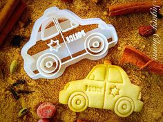 Police car cookie cutter by SugaryCharm on Etsy