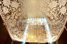 Paper Cut Style Chuppah. http://hative.com/cool-wedding-chuppah-ideas/