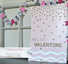 The Life of Jennifer Dawn: Valentine's Day Painting & Free Printables