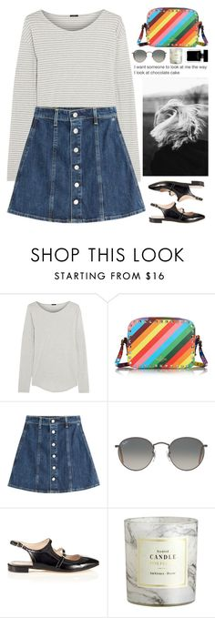 """""""If the world gets you down don't be afraid to wrestle it."""" by biljanamilenkovic ❤ liked on Polyvore featuring J.Crew, Valentino, AG Adriano Goldschmied, Ray-Ban, Carven, H&M, Narciso Rodriguez, valentino, colorful and alexachung"""