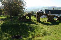 Star Gazer Landscape Made with Wood Logs