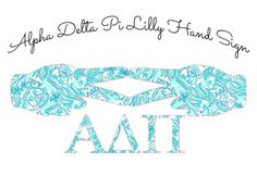 Alpha Delta Pi Hand Sign Sorority Decal -- Lilly