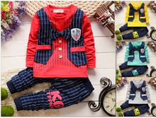 2016 new spring autumn Baby boy christmas outfits clothing sets products kids clothes set babi boys high quality t-shirts+pants(China (Mainland))