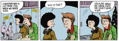 """12/18/12 """"Daddy's Home"""" Comic & Question: Best holiday gift you ever received?  Hey! There's big fun at: www.daddyshomepage.com"""