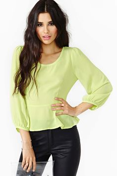 Pop Peplum Blouse