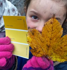 Fagley Primary Forest School: Leaf Matching and Lighting a Spark. Can also make up color names for nature items found on a walk Forest School Activities, Nature Activities, Autumn Activities, Children Activities, Outdoor Classroom, Outdoor School, Classroom Ideas, Primary Classroom, Primary School
