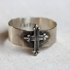 Cross ring from Praxis Jewelry. $42.00