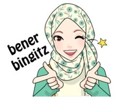 Make your chats more fun with Hijab Gaul Stickers :D Anime Stickers, Cute Stickers, Pray Quotes, Islamic Cartoon, Hijab Cartoon, Cute Love Cartoons, Muslim Girls, Islamic Pictures, Gifs