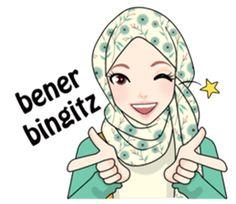 100 Best Stiker Muslim Images Emoticon Anime Muslimah