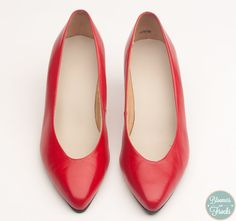 Red Vintage Pumps Made in Brazil $28