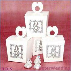 Aliexpressの好意の結婚の装飾および結婚のGifts@BeterWeddingとして二重幸福のギフトの好意箱100pcs TH015の使用