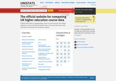 http://unistats.direct.gov.uk   The official website for comparing UK higher education course data
