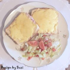 Crocque-Monsieur by Suzi Spanakopita, Camembert Cheese, Ethnic Recipes, Food, Meal, Eten, Meals