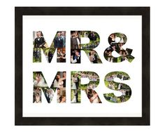 Wedding Gift, Anniversary Gift, Mr and Mrs Sign, Picture Collage Art Print, Custom Photo Collage Made from your Photographs! by LuluBluePhoto on Etsy