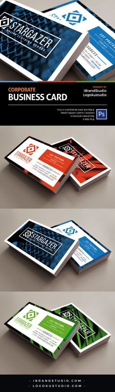 Free Corporate Business Card Template Vol.2                                                                                                                                                                                 More