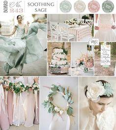 pastel wedding | Soothing Sage Inspiration Board | Magnolia Rouge | Inspiration Boards