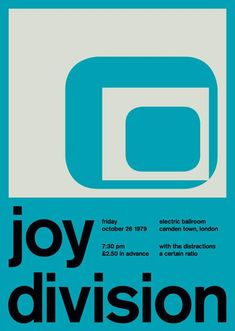 joy division poster swiss modernism