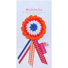 Madeliefke®: Crochet Dutch Queen's day brooch; April 30th. *Koninginnedag broche*