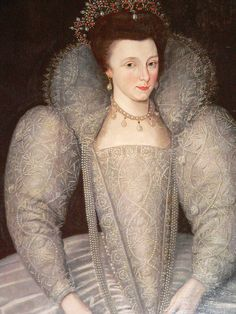 Elizabeth Vernon, Countess of Southampton, wife of Henry Wriothesley, lady-in-waiting to Elizabeth I. Lady in Waiting-'A lady of a royal court appointed to serve or attend a Queen, Princess, or high ranking noblewoman. A Lady in Waiting was not quite a servant. Ladies in Waiting were considered 'noble companions' who, by their status and nobility, could better advise a woman of high station.