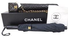 bd8a23e39de4 Chanel RARE Collectors Quilted Umbrella Lambskin Handel Chain Gold  Crossbody Box Dusbag Gem Shop