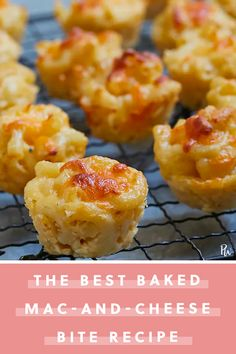 macandcheese purewow recipe cheese baked bites pasta food Baked MacandCheese BitesYou can find Mac and cheese bites and more on our website Cheese Party, Cheese Food, Pasta Cheese, Pasta Food, Queso Cheese, Cheese Platters, Mac Cheese, Appetizers For Party, Appetizer Recipes