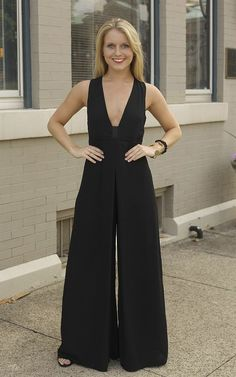 The Samantha Black Jumpsuit - The Samantha Black Jumpsuit is so chic! Pair it with a fun pair of heels and a statement necklace for a fabulous and fancy look! Dress and Dwell - Good things for you and your home