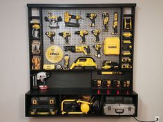 Let's build this awesome power tool wall storage system. I had to organize my power tools in my shop, and decided to design and build this wall storage unit. This...
