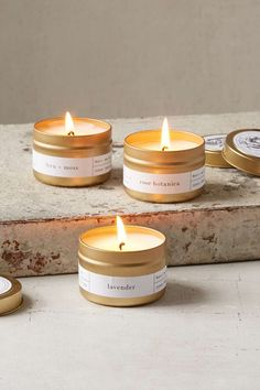 Bring good scents to your place with these candles.