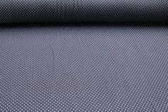 Kinderstoffe - Jersey Punkte klein hellblau auf grau - ein Designerstück von Rhein-Main-Stoffe bei DaWanda