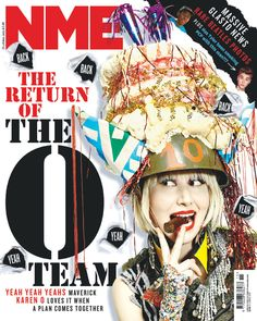 NME Magazine cover, Karen O from Yeah Yeah Yeahs, April 2013 Beatles Photos, The Beatles, Nme Magazine, Magazine Covers, Karen O, Artist Profile, This Man, Covergirl, Graphic Design Art