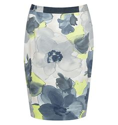 Citrus floral skirt - lovely with a tan, grey or navy shoe or soft silk blouse in a neutral tone. Black shoes and black top will also work. Navy Shoes, Black Shoes, Jigsaw Clothing, Dress Outfits, Fashion Outfits, Dresses, British Style, Capsule Wardrobe, Cashmere