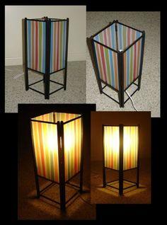 Perfect Table Top Luminary I Designed And Assembled Myself, Based On The Japanese  Shoji Lanterns.
