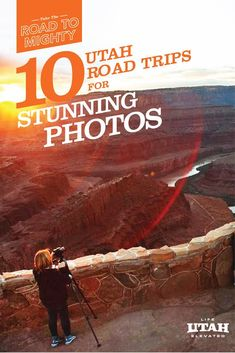 From iconic classics to hidden secrets that will venture you off the beaten path. Here are 10 Utah road trips to capture breathtaking photos that will last a lifetime. Us Road Trip, Road Trip Hacks, Vacation Places, Places To Travel, Travel Destinations, Vacation Ideas, Lake Vacations, Visit Utah, Utah Adventures