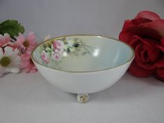 Beautiful Hand Painted Nippon Footed Nut  Bowl by SecondWindShop, $20.00