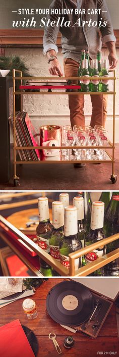 Short on counter space to host this holiday season? Transform a side table into your bar cart, then mix it up with personal decorations, seasonal greenery, and of course - Stella Artois and Chalices. Cue a festive playlist to set the mood, pour a freshly chilled beer for your guests, and let the evening carry you away.