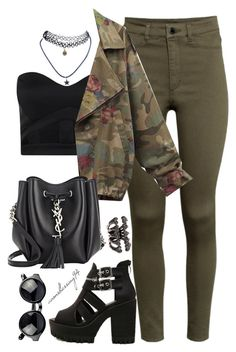 """Rock It"" by avonsblessing94 ❤ liked on Polyvore featuring мода, H&M, Boohoo, Wet Seal и Yves Saint Laurent"