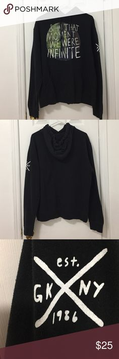 """Glamour Kills Hoodie Super comfy hoodie that will keep you warm. Front of hoodie quotes """"& in that moment we were infinite"""". Has been worn 3 times at most. No stains/flaws :) in great condition Tilly's Tops Sweatshirts & Hoodies"""
