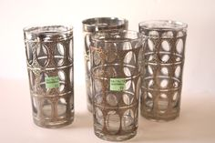 Set of 4 #vintage Culver drinking glasses from #Goodwill.  .99 each