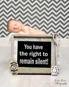 Newborn photography/ original police set up