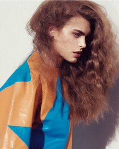 Oyster Fashion: 'Blue Skies' shot by Camilla Armbrust Mugler top