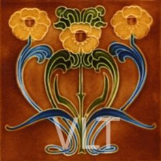 Art Nouveau Reproduction Tile #119, from Villa Lagoon Tile